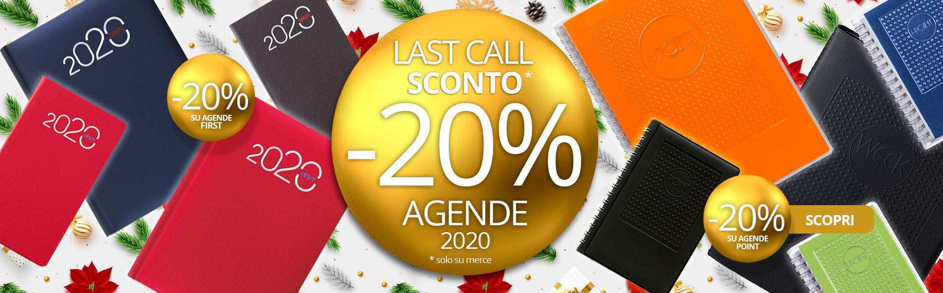 Agende Point e First -20% di sconto