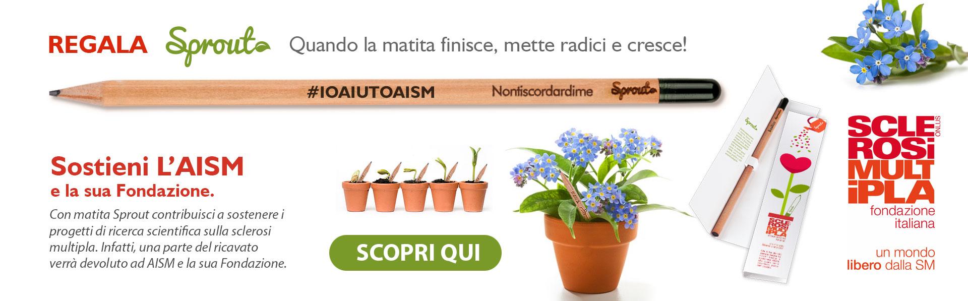 Matita Sprout sostiene L'Aism e la sua Fondazione